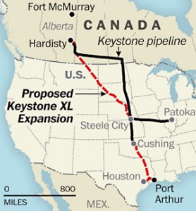 WASHINGTON, DC - AUGUST 6: Proposed Keystone XL Extension map. (Map by Laris Karklis/The Washington Post)
